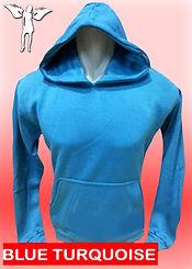Digital Printing, Silkscreen Printing, Embroidery, Blue Turquoise Hoodie, Blue Turquoise Fleece Hoodie