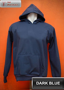Dark Blue Hooded Sweater, sweater hoodie biru tua