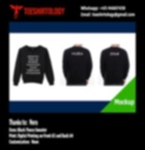 Black Fleece Sweatshirt Digital Printing