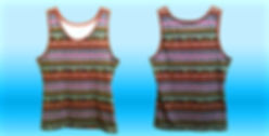 Dye sublimation tanktop, all over print tanktop, no minimum quantity