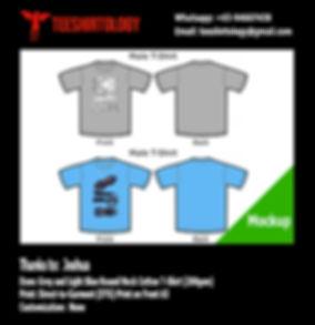Bat Mobile Grey and Light Blue Cotton T-Shirt DTG A3 Print