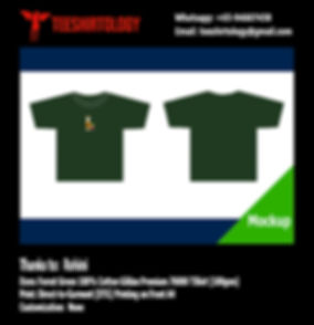 DTG Print of Forest Green Cotton Gildan Premium 76000 Shirt