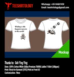 DTG Print of White Cotton Gildan Premium 76000L Ladies T-Shirt