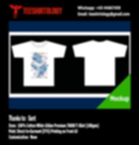 DTG A3 Print of White Cotton Gildan Premium 76000 Shirt