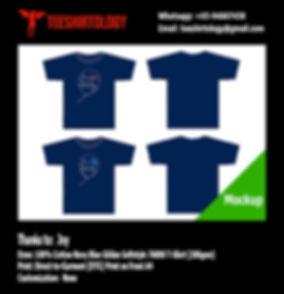 Birthday Celebration Navy Blue Cotton Gildan Softstyle 63000 T-Shirt DTG A4 Print