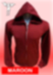 Digital Printing, Silkscreen Printing, Embroidery, Maroon Zipped Hoodie, Maroon Fleece Zipped Hoodie