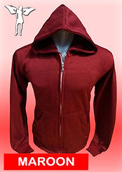 Digital Printing, Silkscreen Printing, Embroidery, Maroon Zipped Hoodie, Maroon Fleece Zipped Hoodie