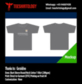 DTG A4 Print of Dark Grey Cotton T-Shirt