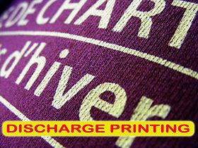 Discharge Printing, Sablon Discharge, sablon cabut warna, silkscreen printing, manual print, t-shirt printing