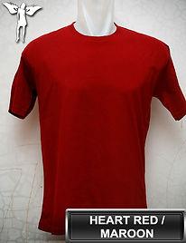 Maroon t-shirt, kaos merah hati, kaos maroon