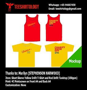 Stephenson Harwood Charity Drifit Tanktop and T-Shirt Silkscreen Printing