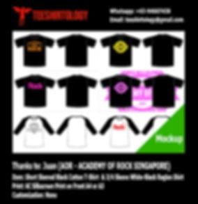 AOR Academy of Rock Screenprint of Black T-Shirt and Long Sleeve Raglan Shirt