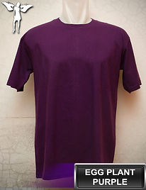 Egg Plant Purple T-Shirt, kaos ungu terong, eggplant purple round neck t-shirt, eggplant purple crew neck t-shirt