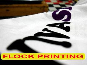 Flock printing, sablon beludru, sablon flock, silkscreen printing, manual print, t-shirt printing