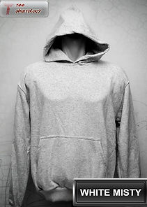 White Misty Hooded Sweater, sweater hoodie putih misty