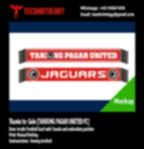 Tanjong Pagar United FC Knit Football Scarf with Tassels
