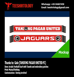 Tanjong Pagar United FC Knit Football Scarf with Tassels
