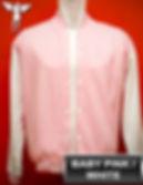 BabyPink/White Varsity Jacket, baseball jacket, college jacket