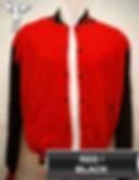 Red/Black Varsity Jacket, baseball jacket, college jacket