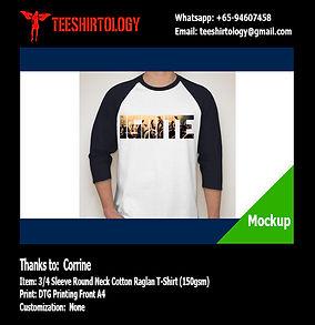 Church Cotton Raglan T-Shirt DTG Print A4