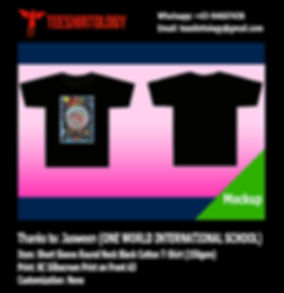 OWIS One World International School Camp T-Shirt Screenprinting