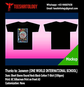 OWIS One World International School Camp T-Shirt Screenprinting