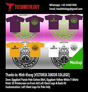 Victoria JC Camp Polo and T-Shirt Silkscreen Printing