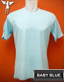 Baby Blue V-Neck T-Shirt, kaos biru baby