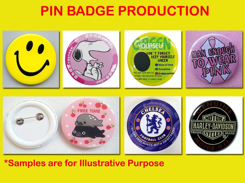 Pin badge, glossy pin badge, 4.4cm pin badge, 5.8cm pin badge, 3.2cm pin badge