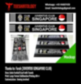 Juventus Singapore Printed Satin Scarf with Arcylic Tassels