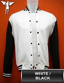 White/Black Varsity Jacket, baseball jacket, college jacket