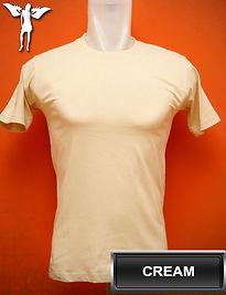 Cream T-Shirt, kaos cream, kaos cream, cream round neck t-shirt, cream crew neck t-shirt