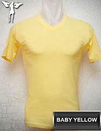 Baby Yellow V-neck t-shirt, kaos kuning baby
