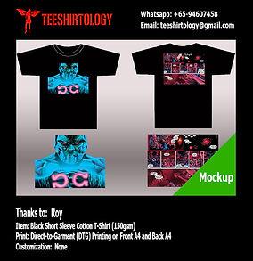 DC Comic Black Cotton T-Shirt DTG Printing