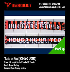 Hougang United Fooball Scarf