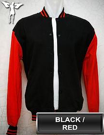 Black/Red Varsity Jacket, baseball jacket, college jacket
