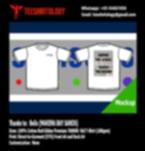 Marina Bay Sands White Cotton Gildan Premium T-Shirt DTG Print