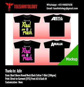 Black Couple Cotton T-Shirt DTG Printing