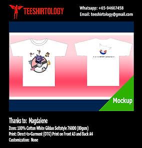 Pokemon White Cotton Gildan Softstyle 63000 DTG Print