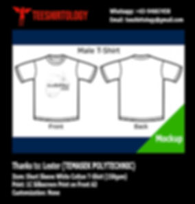 Temasek Polytechnic IITSC Silkcreen Print of White Cotton T-Shirt