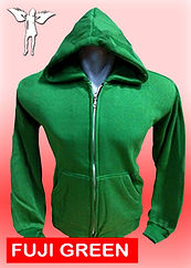 Digital Printing, Silkscreen Printing, Embroidery, Fuji Green Zipped Hoodie, Fuji Green Fleece Zipped Hoodie