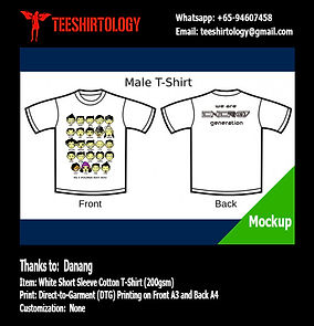 White Short Sleeve Cotton Class T-Shirt DTG Printing