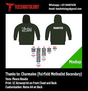 one color print of Fairfield Methodist Class Hoodie