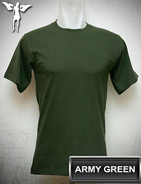Army Green T-Shirt, kaos hijau army, army green round neck t-shirt, army green crew neck t-shirt