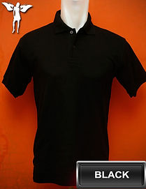 Black Polo Shirt, kaos polo hitam