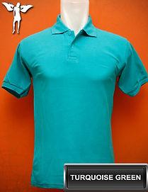 Turquoise Green Polo Shirt, kaos polo hijau turkis