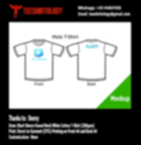 DTG Printing of Twitter White Cotton T-Shirt