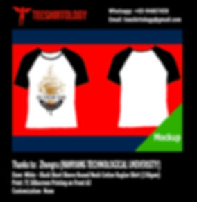 NTU Nanyang Technological University Cotton Raglan Shirt Silkscreen Printing