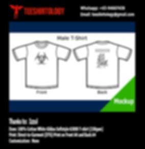 Toxic White Cotton Gildan Softstyle 63000 T-Shirt DTG Print