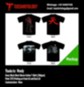 Skyrim Fus Ro Dah Black Cotton T-Shirt DTG Printing